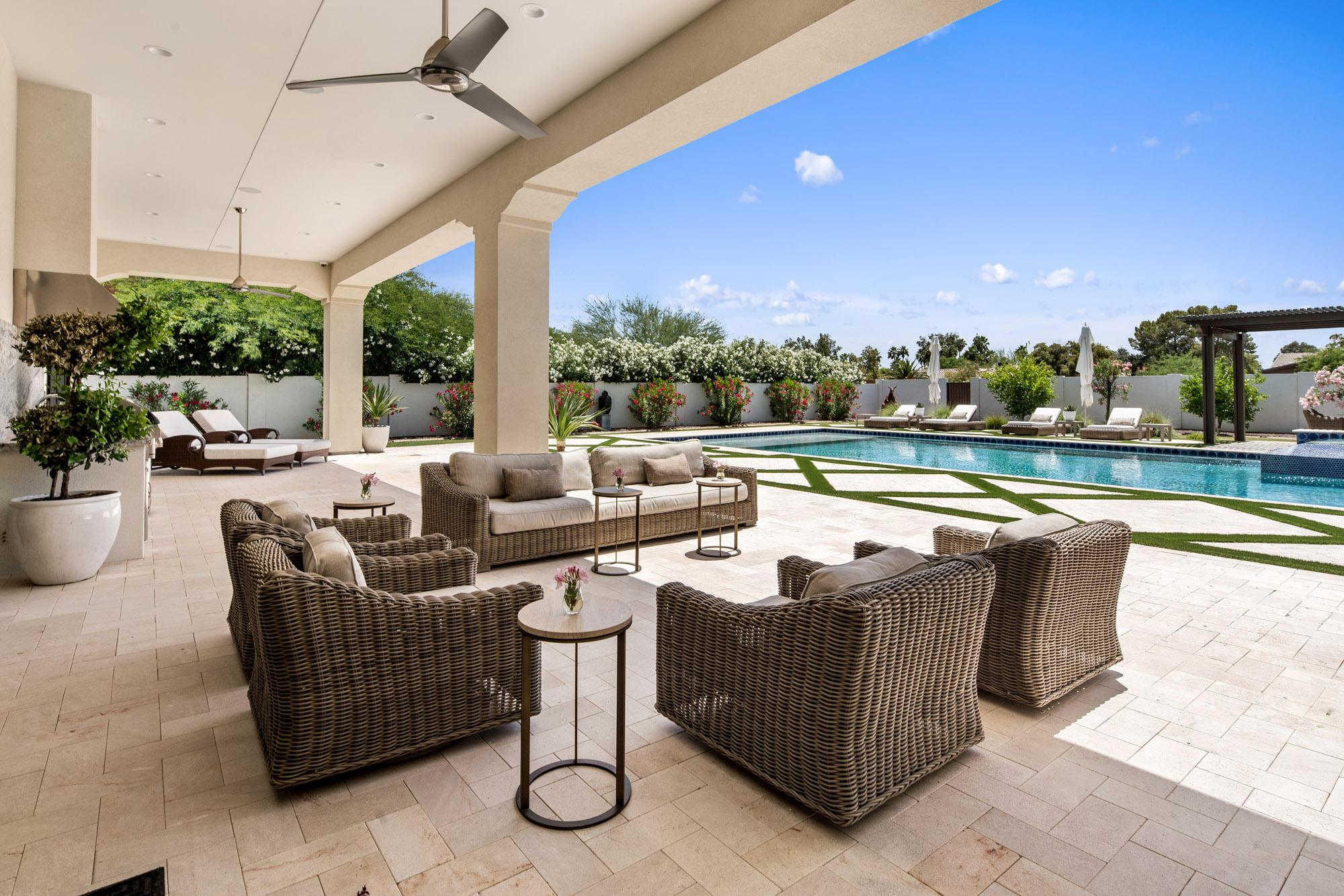 Turquoise Estate Backyard