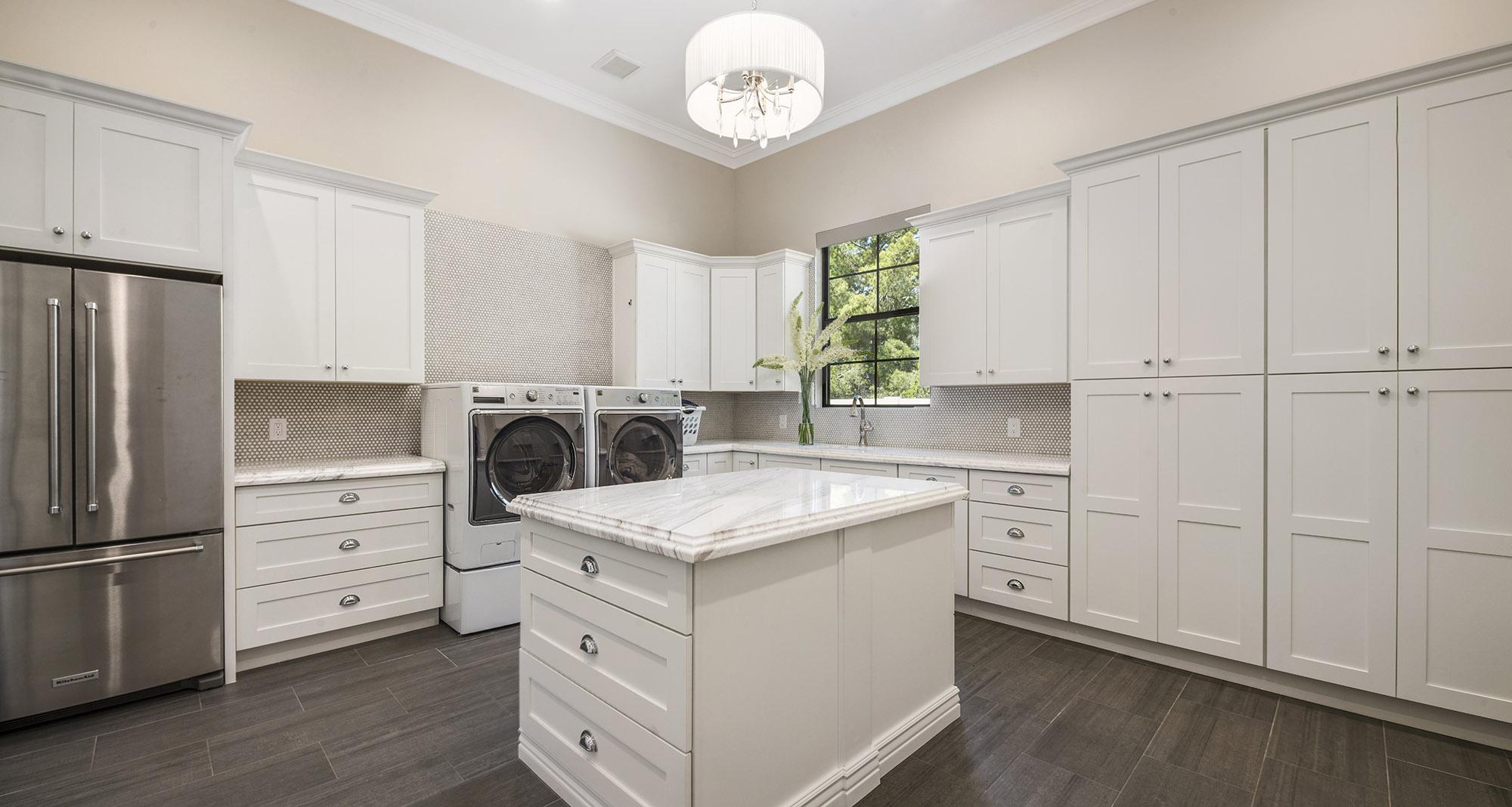 Turquoise Estate Laundry Room