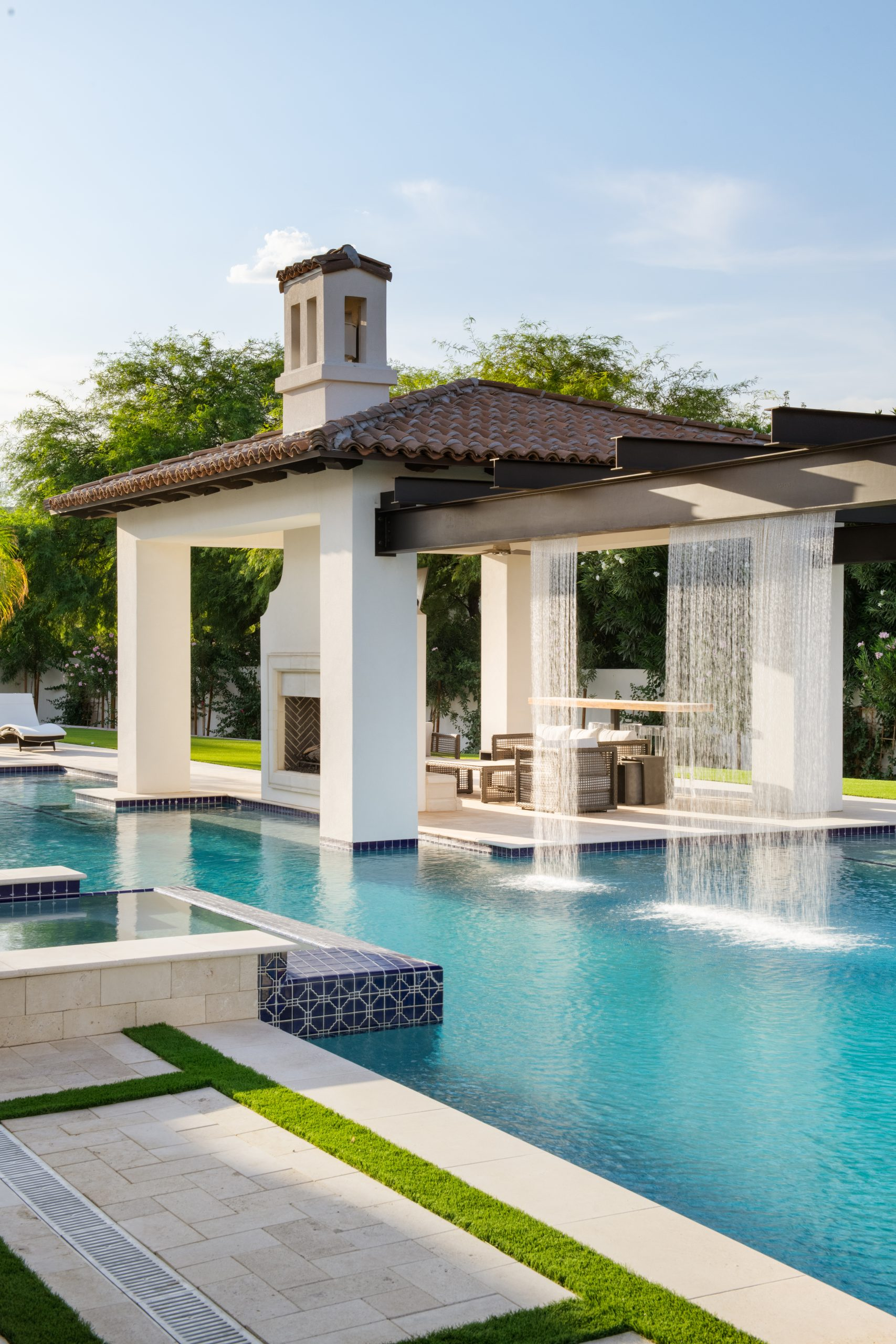 Orchid Estate Backyard Water Feature