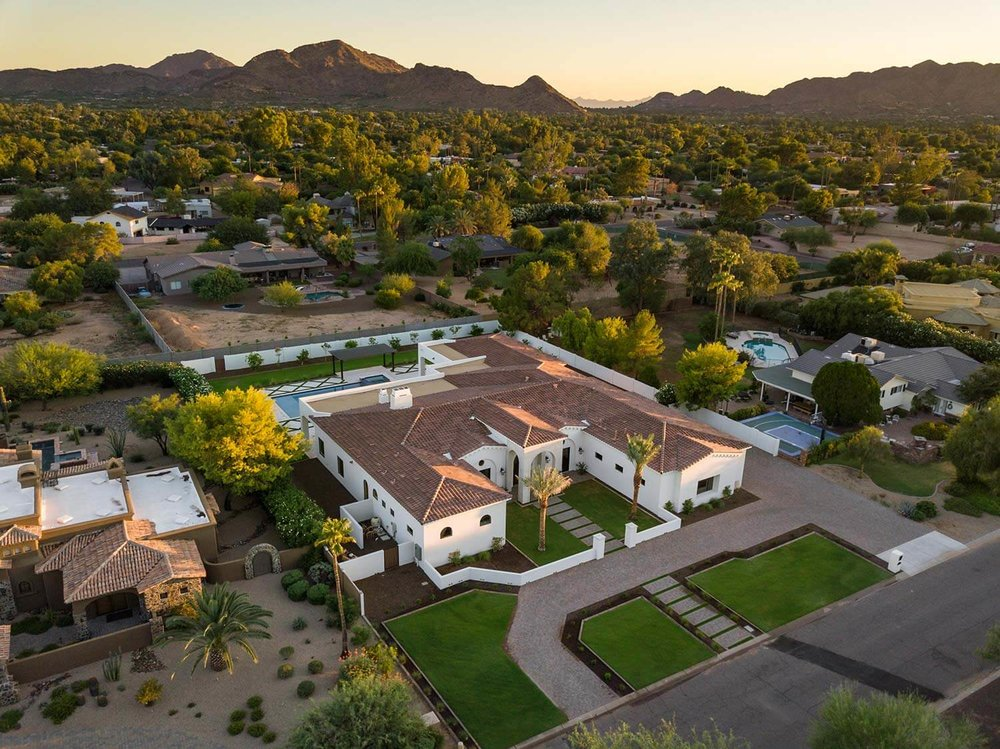 Turquoise Estate Aerial View